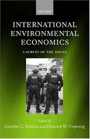 Cover of: International Environmental Economics |
