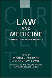 Cover of: Law and Medicine |