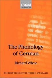 Cover of: The Phonology of German (The Phonology of the World's Languages)