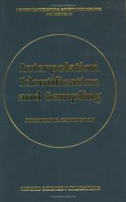 Cover of: Interpolation, identification, and sampling | Jonathan R. Partington