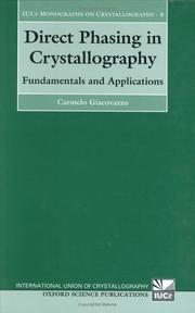 Cover of: Direct Phasing in Crystallography | Carmelo Giacovazzo