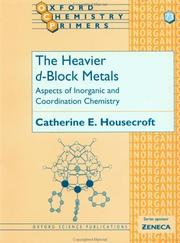 Cover of: The Heavier d-Block Metals