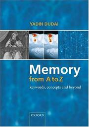 Memory from A to Z by Yadin Dudai