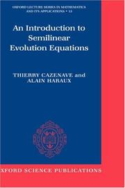 Cover of: An introduction to semilinear evolution equations