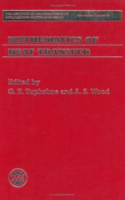 Cover of: Mathematics of heat transfer | Conference on Mathematics of Heat Transfer (1998 University of Bradford)