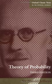 Cover of: Theory of probability