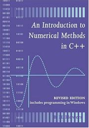 Cover of: An introduction to numerical methods in C++ | Flowers, Brian Hilton Sir.