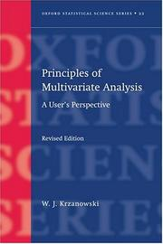Cover of: Principles of multivariate analysis