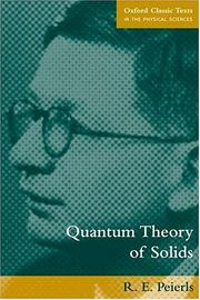 Cover of: Quantum theory of solids
