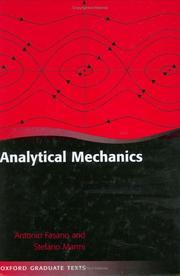 Cover of: Analytical mechanics