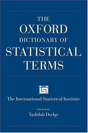 Cover of: The Oxford dictionary of statistical terms |