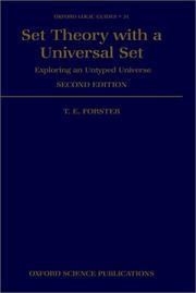 Cover of: Set theory with a universal set