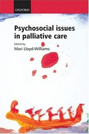 Cover of: Psychosocial issues in palliative care |