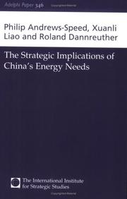 Cover of: strategic implications of China