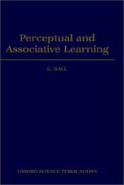 Cover of: Perceptual and associative learning