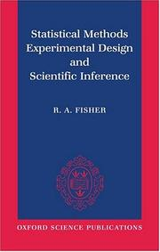 Cover of: Statistical methods, experimental design, and scientific inference