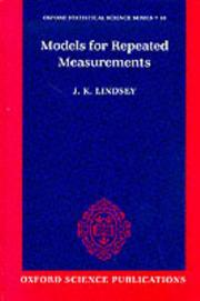 Cover of: Models for repeated measurements | James K. Lindsey
