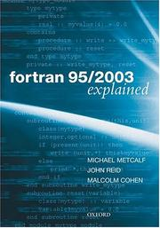 Cover of: Fortran 95/2003 explained