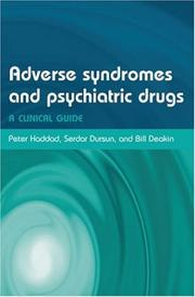 Cover of: ADVERSE SYNDROMES AND PSYCHIATRIC DRUGS; ED. BY PETER M. HADDAD |