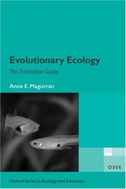 Cover of: Evolutionary Ecology | Anne E. Magurran