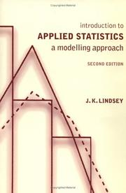 Cover of: Introduction to applied statistics | James K. Lindsey