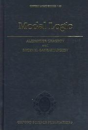 Cover of: Modal logic