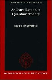Cover of: An introduction to quantum theory