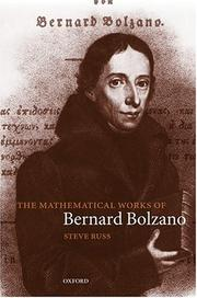 Cover of: The mathematical works of Bernard Bolzano