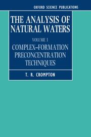 Cover of: The analysis of natural waters
