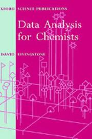Cover of: Data analysis for chemists