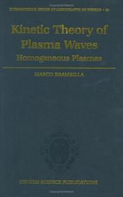 Cover of: Kinetic theory of plasma waves | Marco Brambilla