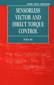 Cover of: Sensorless vector and direct torque control