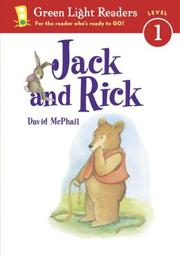 Cover of: Jack and Rick (Green Light Readers Level 1) | David McPhail