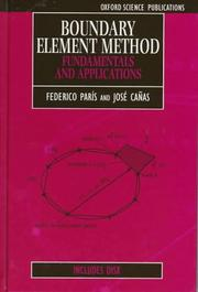 Cover of: Boundary Element Method | Federico Paris