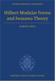Cover of: Hilbert Modular Forms and Iwasawa Theory (Oxford Mathematical Monographs)