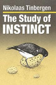 Cover of: The study of instinct