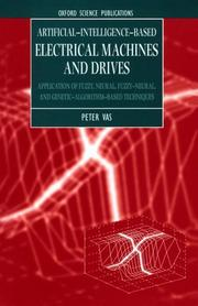 Cover of: Artificial-intelligence-based electrical machines and drives