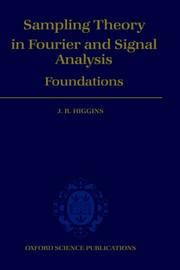 Cover of: Sampling theory in Fourier and signal analysis