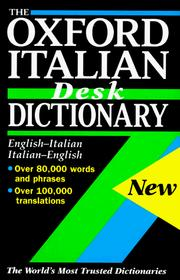 Cover of: Oxford Italian desk dictionary |