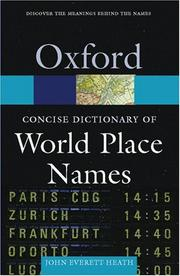 Cover of: The Concise Dictionary of World Place-Names
