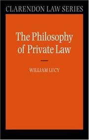 Cover of: Philosophy of Private Law (Clarendon Law Series) | William Lucy