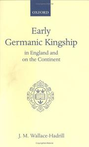 Cover of: Early Germanic Kingship