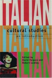 Cover of: Italian cultural studies |