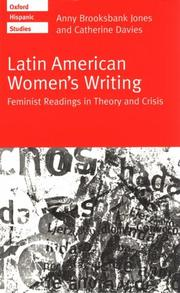Cover of: Latin American women's writing