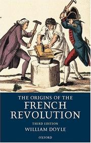 Cover of: Origins of the French Revolution