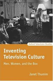 Cover of: Inventing Television Culture | Janet Thumim