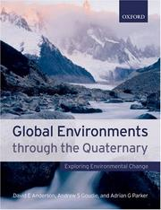 Cover of: Global environments through the Quaternary