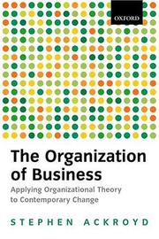 Cover of: The organization of business