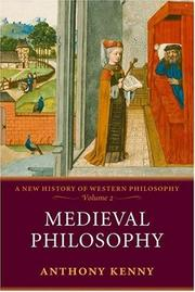 Cover of: Medieval Philosophy (A New History of Western Philosophy, Vol. 2) | Anthony John Patrick Kenny