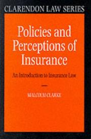 Cover of: Policies and perceptions of insurance